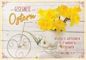 Doppelkarte 'Gesegnete Ostern' Narzissen