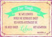 Faltkarte 'Leben' - Taufe