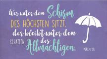 Wandschmuckschild - Wer unter dem Schirm...