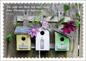 Postkarte Vogelhäuschen