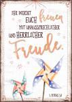 Postkarte 'Ihr werdet Euch freuen'