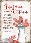 Postkarte 'Ostern' Rote Tulpen