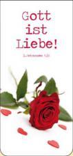 Magnetlesezeichen - 'Rose mit Herzen'