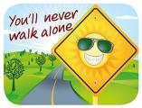 Reinigungs-Pad mini 'You'll never walk alone'