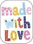 Reinigungs-Pad mini 'made with Love'