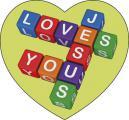 Reinigungs-Pad mini 'Jesus Loves You'
