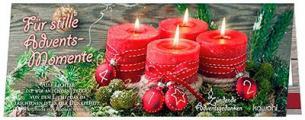 Streichholz-Adventskalender 'Für stille Adventsmomente'