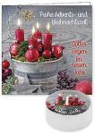 Lichtgruß 'Frohe Advents- und Weihnachtszeit'