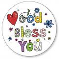 Reinigungs-Pad 'God Bless You'