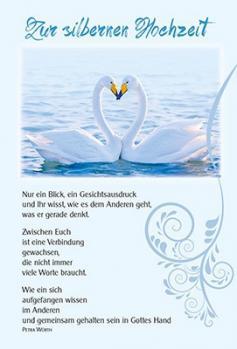 Faltkarte: Nur ein Blick - Silberne Hochzeit