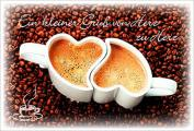 Coffee to send 'Ein kleiner Gruß von Herz zu Herz'