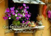 Tee-Postkarte - Zum Geburtstag liebe Wünsche!