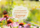 In einem dankbaren Herzen herrscht ewiger Sommer - Postkarte