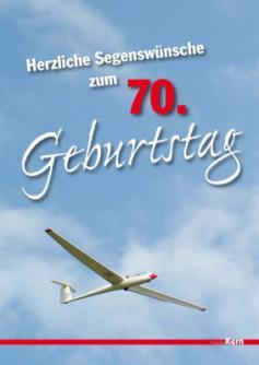 Grußkarte - Herzliche Segenswünsche zum 70. Geburtstag
