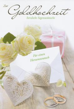 Faltkarte Goldene Hochzeit