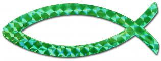 Aufkleber Magnetfolien-Fisch - grün