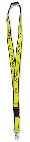 Halsumhänger 'Ichthys' - neon-gelb