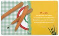 Frühstücksbrettchen 'O Gott, von dem...' - gelb