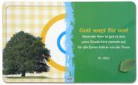 Frühstücksbrettchen 'Gott sorgt, ...' - grün